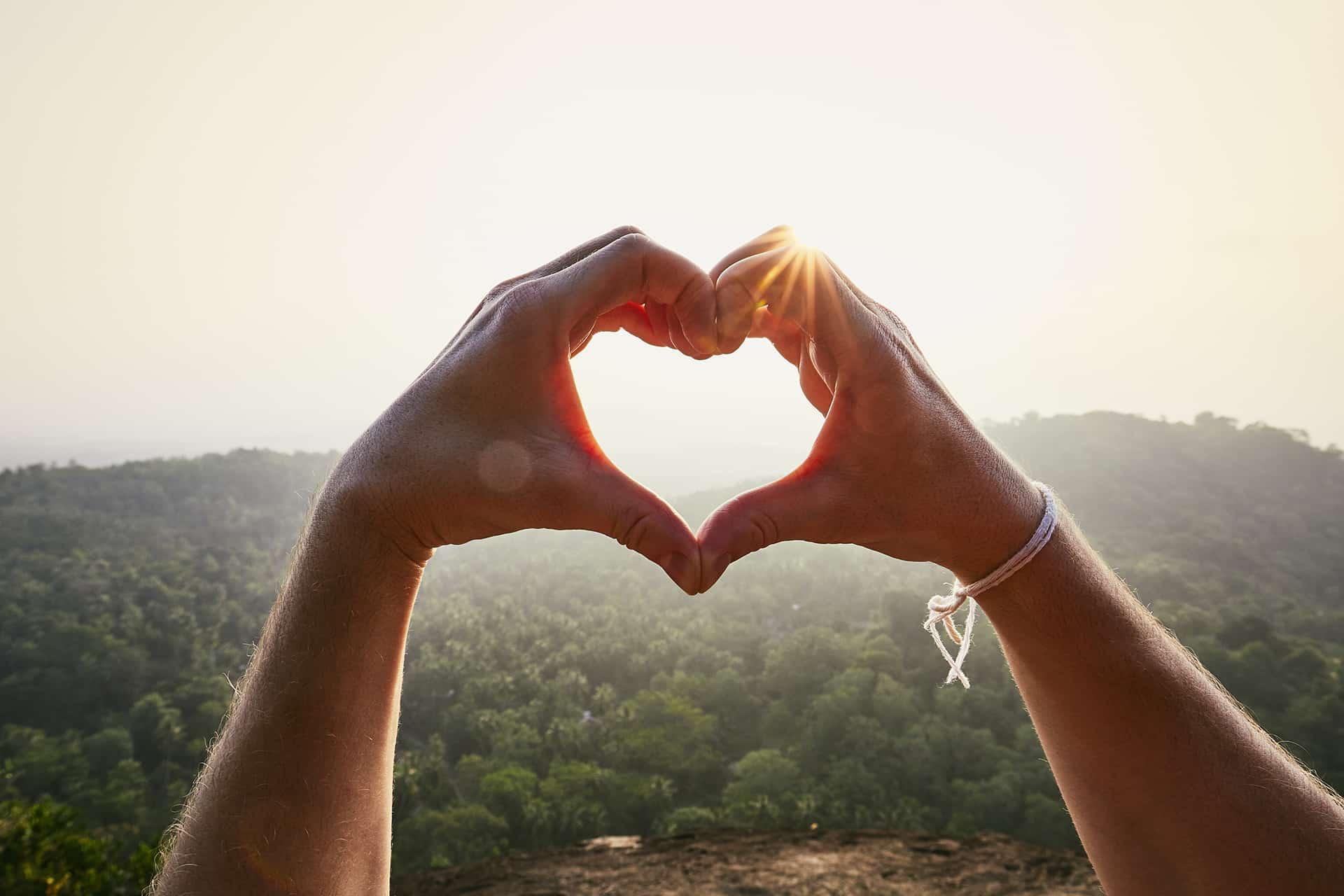 rixon covid19 heart sunset