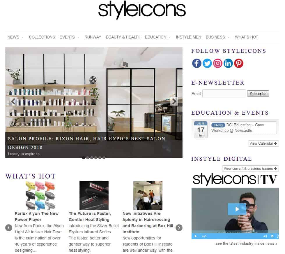 styleicons screen capture news article